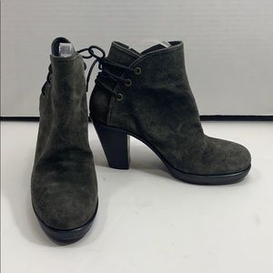 Fiorentini + Baker suede laced back boots sz 37